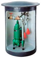 residential grinder pump cutaway