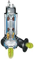 non-clog pump cutaway