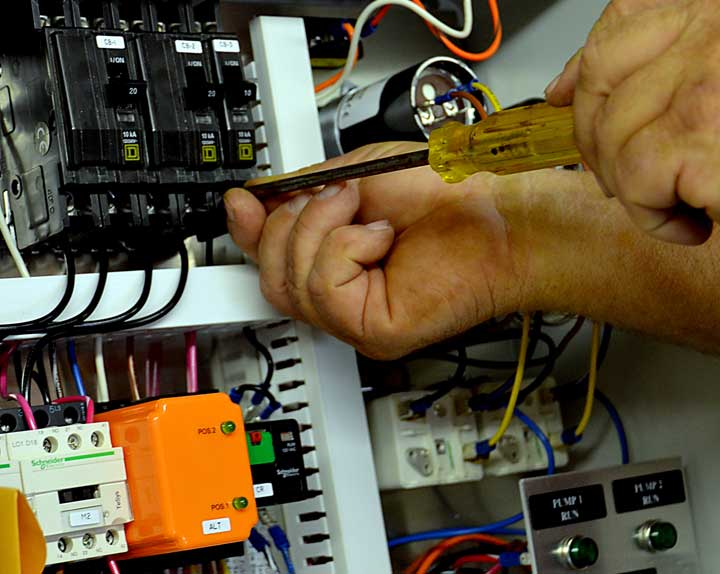 repair work on electronic component